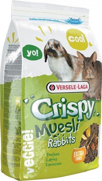 Crispy Muesli - Rabbits 1kg Kleintierfutter für Kaninchen