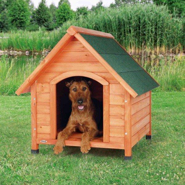 TRIXIE natura Hundehütte Cottage mit Satteldach M 77x88x82cm natur