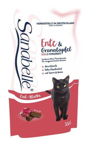 Sanabelle Cat Sticks Ente & Granatapfel 55g Katzensnack