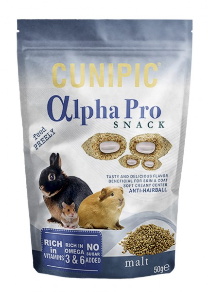 CUNIPIC AlphaPro Snack Anti-Hairball 50g Kleintiersnack