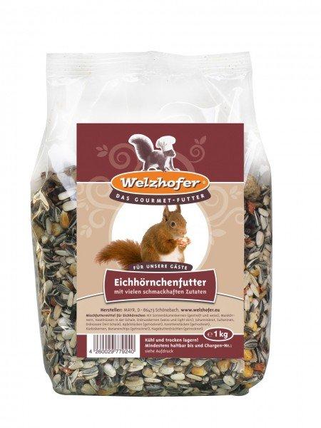 Welzhofer Eichhörnchenfutter 1kg für Wildvögel