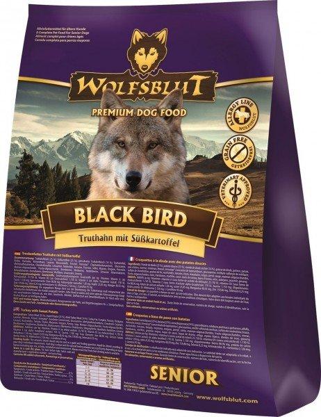 WOLFSBLUT Black Bird Senior mit Truthahn & Süßkartoffel Hundetrockenfutter