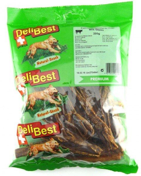 DeliBest Natural Snack Milk Sticks Rindereuter 200g Hundekauartikel