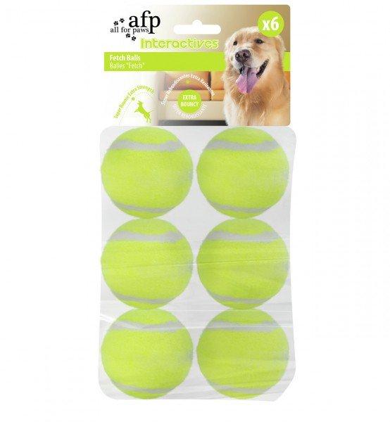 all for paws (afp) Ersatz-Tennisbälle für Hyper Fetch / Hyper Fetch Mini Ballwurfmaschine (6 Stück)