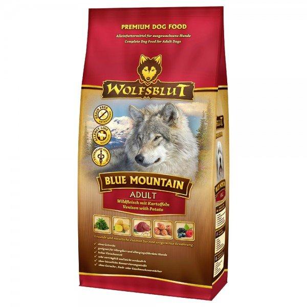 WOLFSBLUT Blue Mountain Wildfleisch mit Kartoffeln Hundetrockenfutter