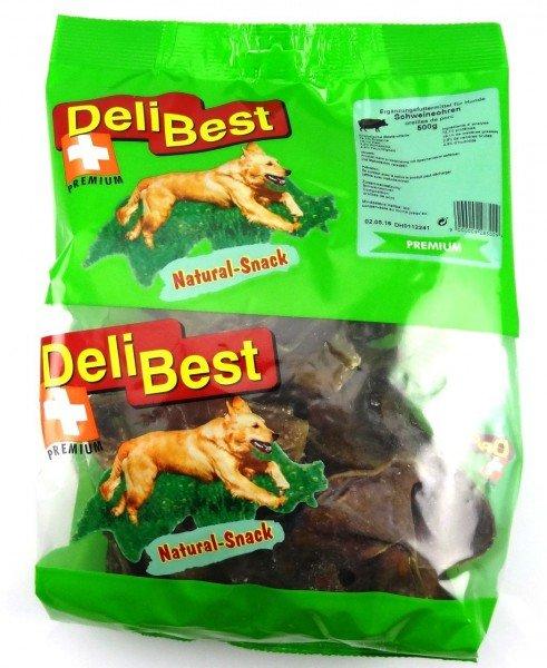 DeliBest Schweineohren Premium 500gHundekauartikel
