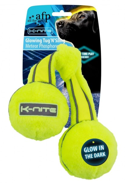all for paws (afp) K-Nite Glowing Tug' N' Sling Hundespielzeug