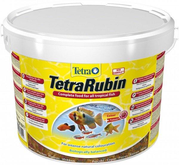 TetraRubin 10 Liter Flockenfutter