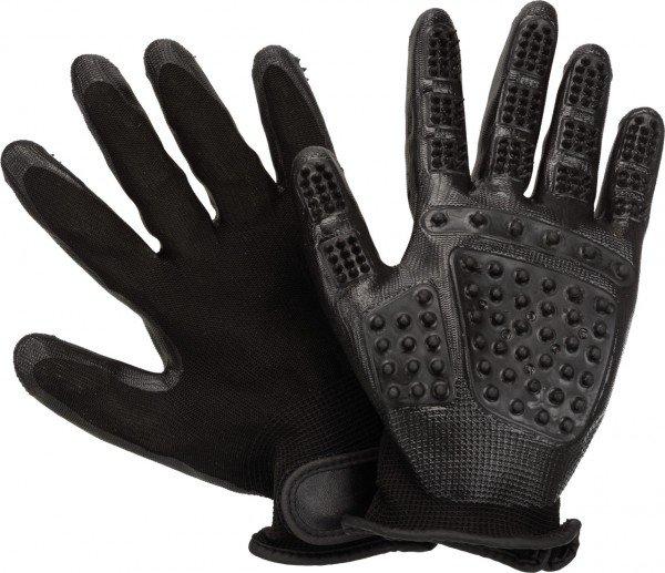 TRIXIE Fellpflege-Handschuhe aus Nylon/Gummi