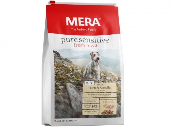 MERA DOG pure sensitive MINI fresh meat Huhn & Karoffel (high protein) Hundetrockenfutter