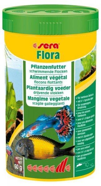 sera Flora 250ml Pflanzenfutter schwimmende Flocken