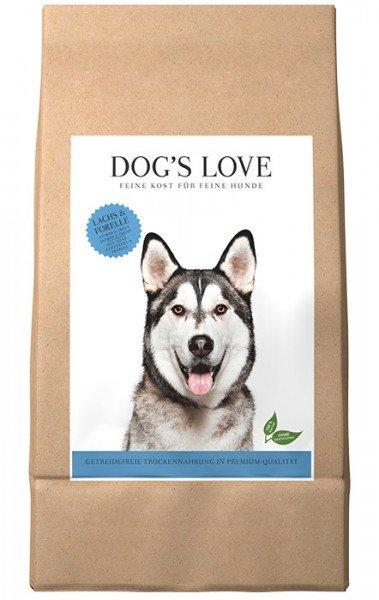 Dog's Love Lachs & Forelle mit Süßkartoffel & Spargel Hundentrockenfutter