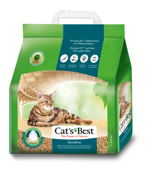 CAT'S BEST Sensitive 3,2 kg (8 Liter) Katzenstreu