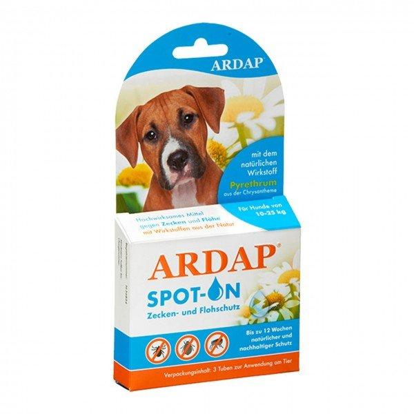 ARDAP Spot-on gegen Ungeziefer 3 x 2,5 ml für Hunde von 10-20 Kilogramm