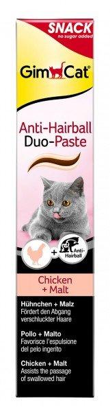 GimCat Anti-Hairball Duo-Paste Huhn & Malz 200g Nahrungsergänzung für Katzen