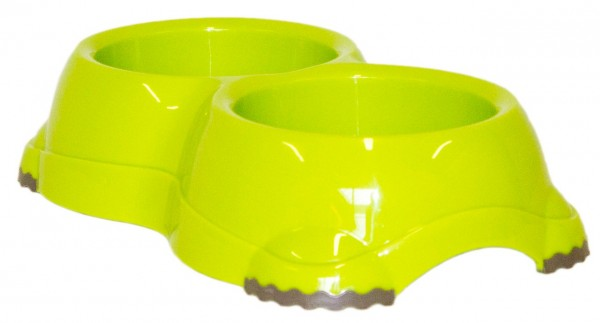 Moderna DOUBLE Smarty Bowl 2 2x645 ml fun green Hundenapf