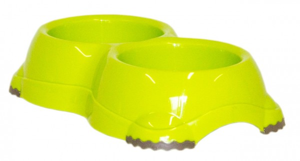 Moderna DOUBLE Smarty Bowl 1 2x330 ml fun green Hundenapf