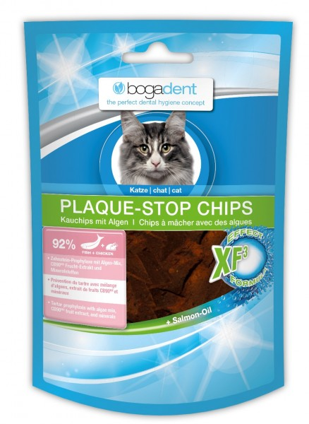 bogadent PLAQUE-STOP CHIPS FISH 50g Zahnpflege Kauartikel Nahrungsergänzung für Katzen