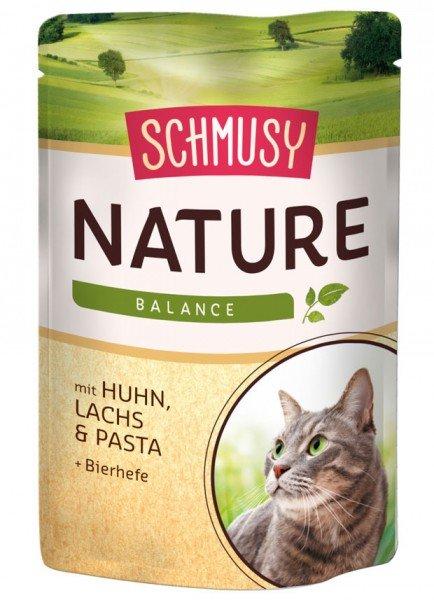 SCHMUSY Nature Balance 24 x 100g Frischebeutel Katzennassfutter