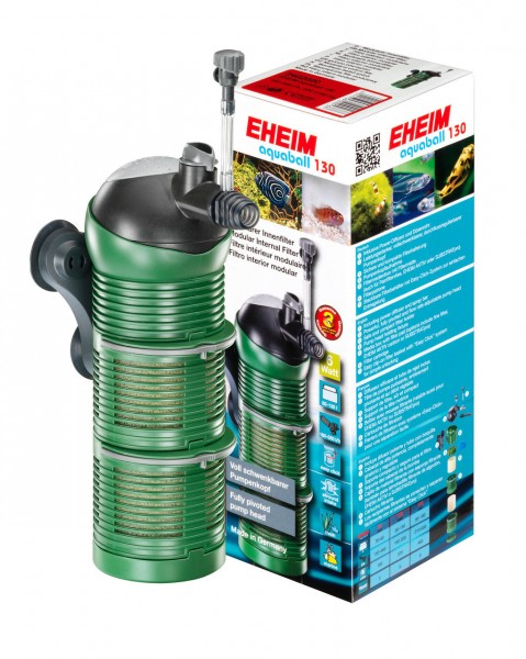 EHEIM 2402 aquaball 130 Innenfilter mit Filtermasse