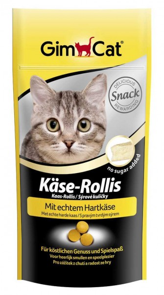 GimCat Käse-Rollis 40g Katzensnack