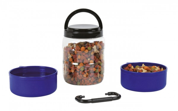 TRIXIE DogonTour Reise-Set 2 x 0,75 Liter Hundenapf