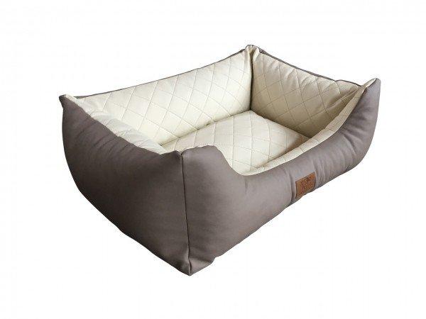 Pet is! Austria Couch Exklusiv Kunstleder taupe/creme 80x60cm Hundebett