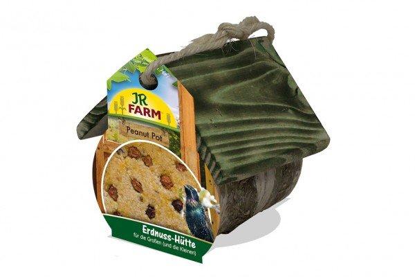 JR FARM Peanut Pot Erdnusshütte für Wildvögel inklusive Nachfüller