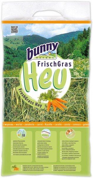 Bunny Frischgras-Heu Karotte 500g Kleintierfutter
