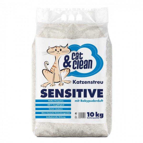 Cat & Clean Sensitive mit Babypuderduft 10kg Katzenstreu