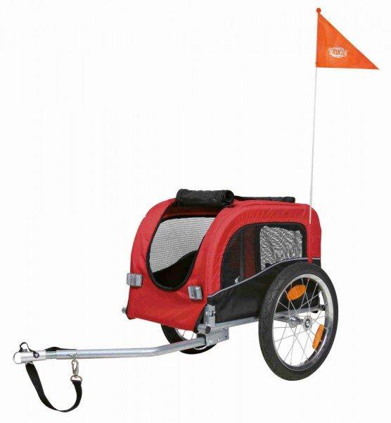 TRIXIE Fahrrad-Anhänger S 53x60/117x60cm schwarz/rot