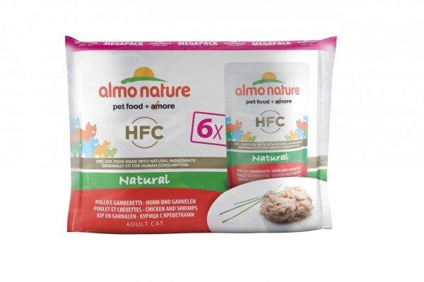Almo Nature HFC Natural Huhn & Garnelen 6 x 55g Multipack Katzennassfutter