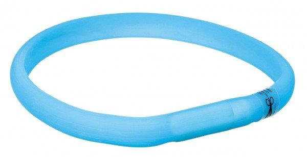 TRIXIE Flash Leuchtband USB XS - S (35 cm / 17 mm) blau
