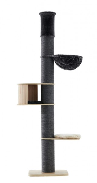 Nobby Kratzbaum Halim 60x60x220-250cm dunkelgrau