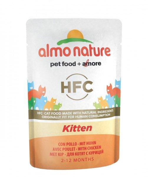 Almo Nature HFC Kitten mit Huhn 24x55g Katzennassfutter