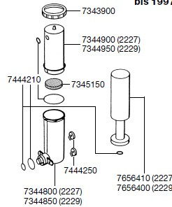 EHEIM 7444210 Satz Dichtungsringe für Intervallsteuerung Ersatzteil für 2227/2229/2327/2329