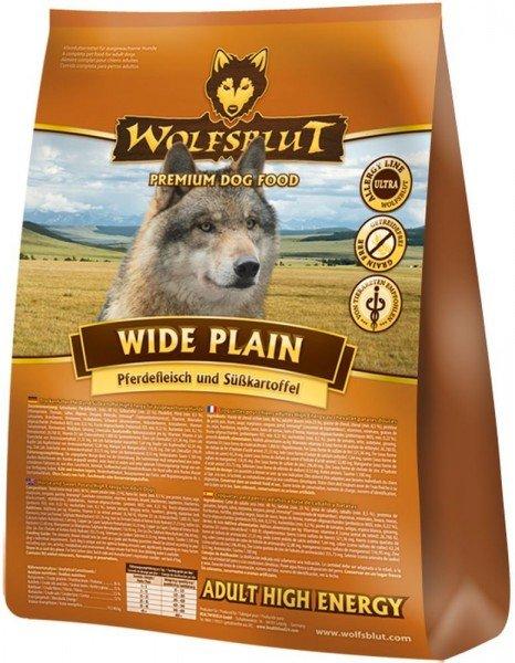 WOLFSBLUT Wide Plain ACTIVE (High Energy) mit Pferdefleisch & Süßkartoffel Hundetrockenfutter