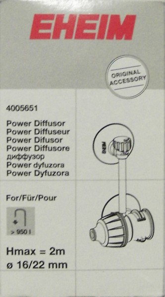 EHEIM 4005651 Diffusor für InstallationsSET 2 (4004310/4005310), Schlauch ø16/22 mm Zubehör für 2026