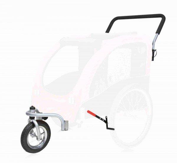 TRIXIE Jogger-Umbausatz für Fahrrad-Anhänger L schwarz/rot (#12817)