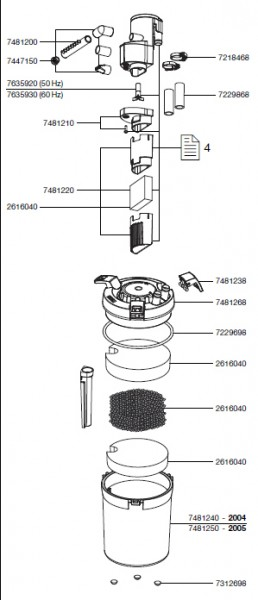 EHEIM 7250600 Dichtungsring Ersatzteil für 2211-2217, 2313-2317, 4006410-4007510