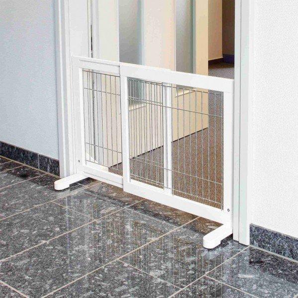 TRIXIE Hunde-Absperrgitter Holz 65-108x61cm weiß