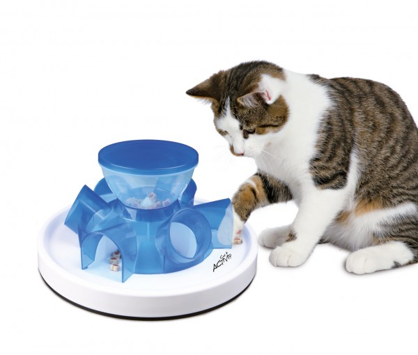 TRIXIE Cat Activity Tunnel Feeder Katzenspielzeug