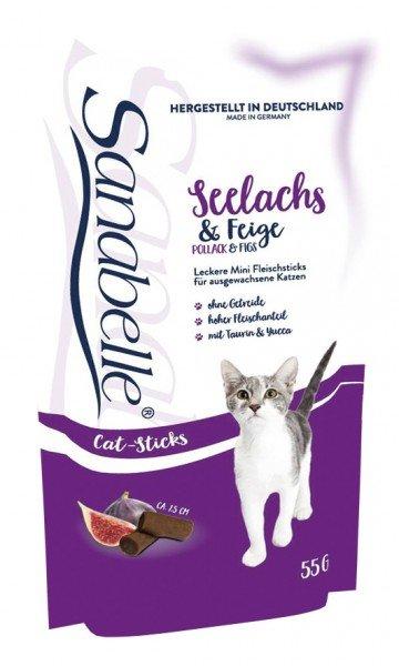 Sanabelle Cat Sticks Seelachs & Feige 55g Katzensnack
