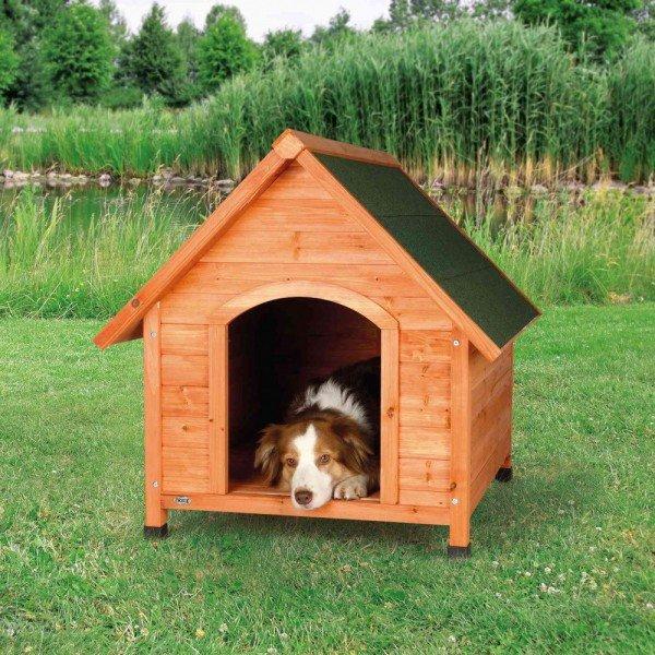 TRIXIE natura Hundehütte Cottage mit Satteldach M-L 83x101x87cm natur