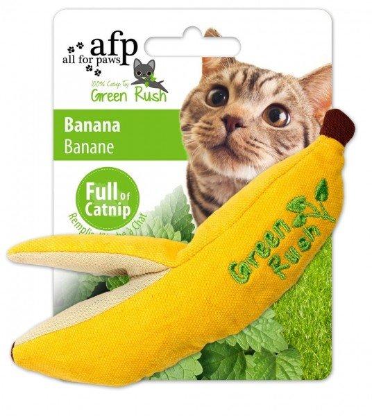 all for paws (afp) Green Rush Banana mit Katzenminze Katzenspielzeug
