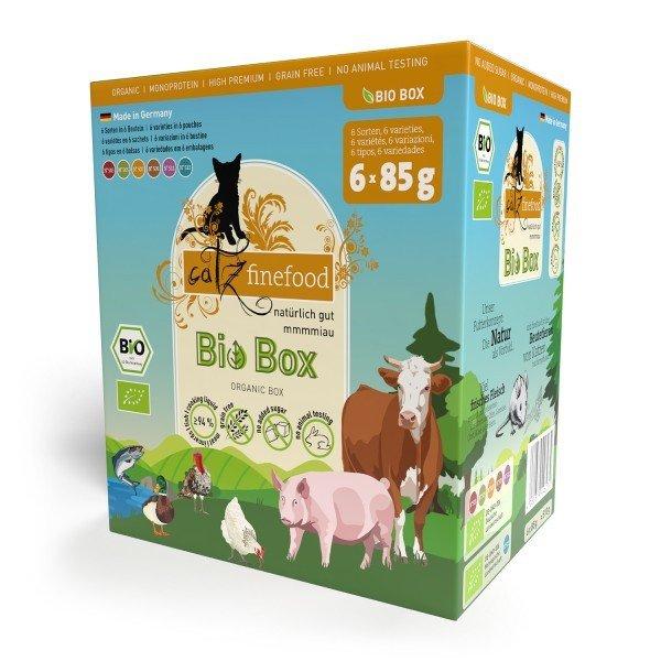catz finefood Bio No.503-513 6x85g Multipack Katzennassfutter