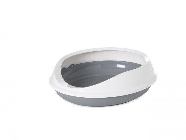 SAVIC Designtoilette Figaro weiß/grau Katzentoiletten