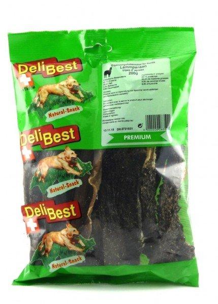 DeliBest Lammpansen Premium 200g Hundekauartikel