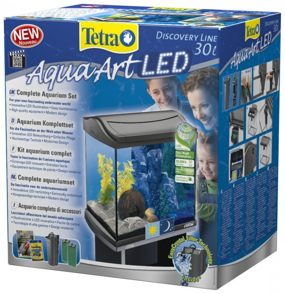 Tetra AquaArt LED Aquarium-Set 30 Liter anthrazit