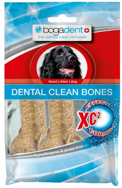 bogadent DENTAL CLEAN BONES 2 x 60g Hundekauartikel Zahnpflege für Hunde
